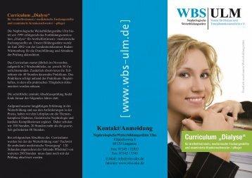 "Curriculum ""Dialyse"" - WBS ULM"