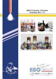 Preisliste WIKO 2011 / 12 - ISO Schweisstechnik AG