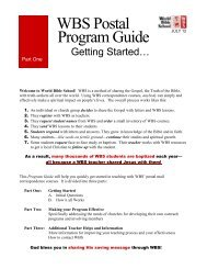 Program Guide WBS Postal po - Amazon Web Services