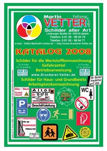 Schilder aller Art Martin - Druckerei Vetter, Wiesbaden