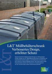 L&T® Müllbehälterschrank Verbessertes Design, erhöhter Schutz