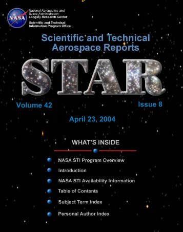 NASA Scientific and Technical Aerospace Reports