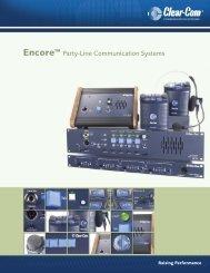 Clear-Com Encore Brochure - profiaudio