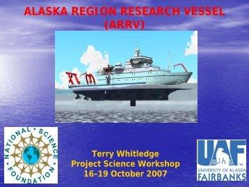 Alaska Region Research Vessel - Project Science