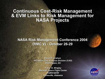 Continuous Cost-Risk Management & EVM Links to Risk ...