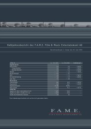 5 Konzern-Gewinn- und Verlustrechnung - FAME AG