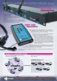 WIRELESS INTERCOM SYSTEM WB-200 Series - LS Audiovisuel
