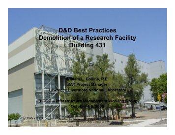 D&D Best Practices Demolition of a Research Facility Building 431