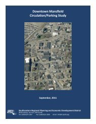 Downtown Mansfield Circulation/Parking Study - Southeastern ...