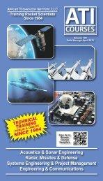 Acoustics & Sonar Engineering Radar, Missiles & Defense Systems ...