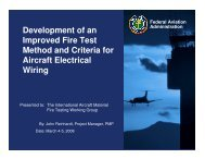 Development of an Improved Fire Test Method and Criteria for ...