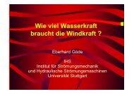 Wie viel Wasserkraft braucht die Windkraft - IHS - Universität Stuttgart