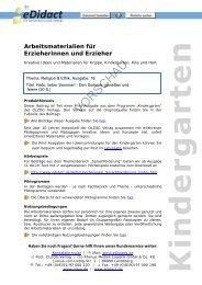Arbeitsmaterialien für Erzieherinnen und Erzieher - beim OLZOG ...