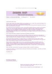 Omkara Sommer News Themenreihe Wasser 1 - Omkara Shop