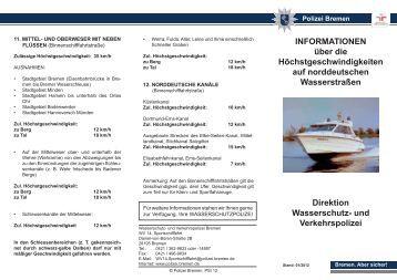 hchstgeschwindigkeitenpdf polizei bremen - Polizei Bremen Bewerbung