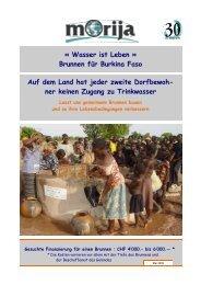 « Wasser ist Leben » Brunnen für Burkina Faso Auf dem ... - Morija
