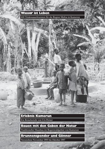 Wasser ist Leben Brunnenspender und Gönner ... - Stiftung St.Martin