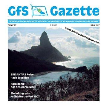 127 Gazette - Hochseesegeln mit der GfS