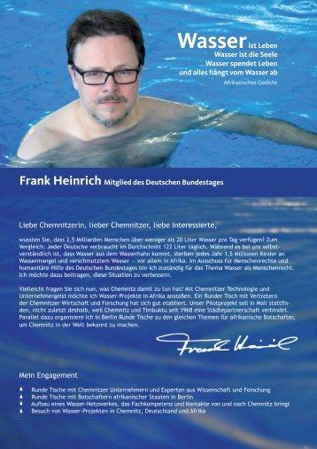 Wasserist Leben Wasser ist die Seele Wasser ... - Frank Heinrich