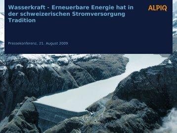 Wasserkraft - Alpiq