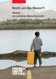 Reicht uns das Wasser?! - Bibliothek der Friedrich-Ebert-Stiftung