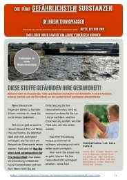 5 Giftstoffe im Trinkwasser - Andreas Frenzel