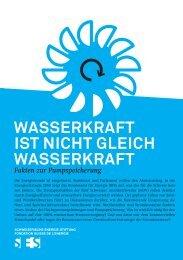 wasserkraft ist nicht gleich wasserkraft - Schweizerische Energie ...