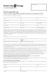 Zeichnungserklärung Green City Energy Wasserkraft Frankreich ...