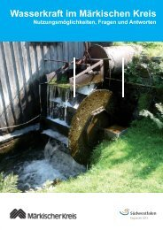 Wasserkraft im MK - Märkischer Kreis