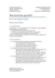 Was hat Jesus gewollt?