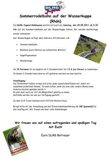 Sommerrodelbahn auf der Wasserkuppe - DLRG Ortsgruppe ...