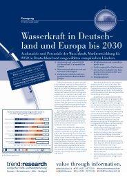 Wasserkraft in Deutschland und Europa bis 2030 - trend:research