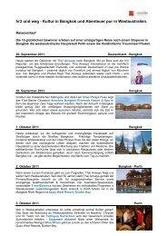 hr3 und weg - Kultur in Bangkok und Abenteuer pur in Westaustralien.
