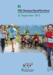 PSD BusinessTeamMarathon 23. September 2012 - Baden Marathon