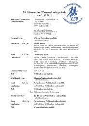 Ausschreibung - Ludwigsfelder Leichtathleten