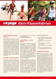 Aktiv Klassenfahrten - Voyage Gruppenreisen