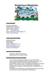 Kinderhaus Welshofen - Erdweg