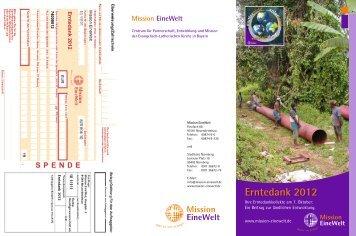 Faltblatt - Mission Einewelt