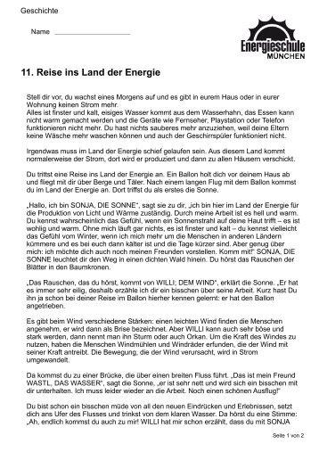 11. Reise ins Land der Energie - Green City eV