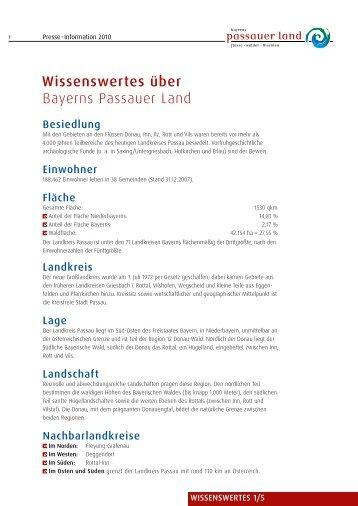 Wissenswertes über Bayerns Passauer Land