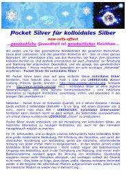 Pocket Silver für kolloidales Silber - Ratgeber Wellness und ...