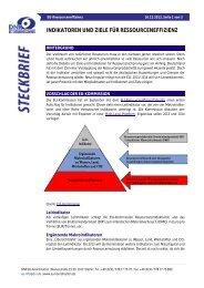 Indikatoren und Ziele für Ressourceneffizienz - EU-Koordination