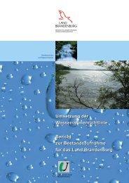 Umsetzung der Wasserrahmenrichtlinie Bericht zur - MUGV ...