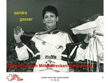 Läufer werden schneller durch laufen - Sandra ... - Swiss Athletics