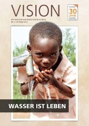 Wasser ist leben - World Vision Schweiz