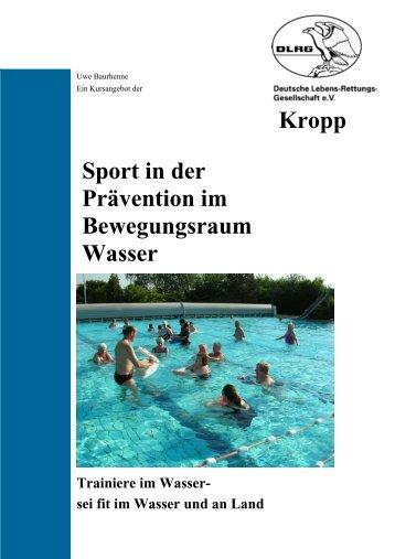 Kropp Sport in der Prävention im Bewegungsraum Wasser