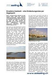 Kroatiens Inselwelt – eine Entdeckungsreise per ... - SOLsailing