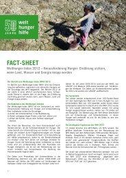 Factsheet Hunger (PDF) - Welthungerhilfe