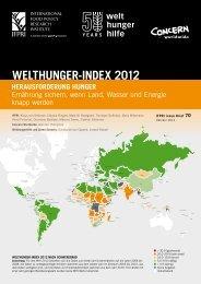 Welthunger-Index 2012 - Welthungerhilfe