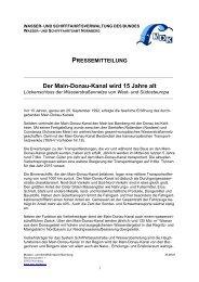15 Jahre Main-Donau-Kanal - Wasser- und Schifffahrtsverwaltung ...